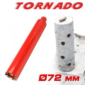"Алмазная коронка SUPERHARD ""TORNADO"" 72 мм 1 1/4""UNC"