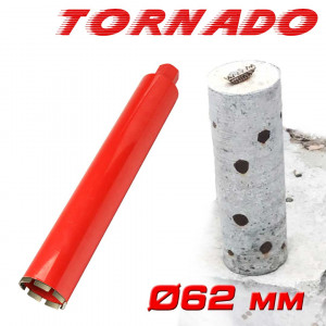 "Алмазная коронка SUPERHARD ""TORNADO"" Ø62 мм 1 1/4""UNC"