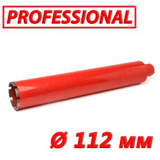 "Алмазная коронка по бетону SUPERHARD ""PROFESSIONAL"" Ø 112 мм 1 1/4""UNC"