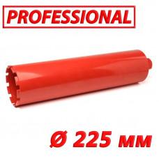"Алмазная коронка по бетону SUPERHARD ""PROFESSIONAL"" 225 мм 1 1/4""UNC"