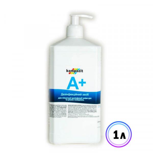 Картинка - Антисептик для рук А+ (дозатор) Kompozit, 1 л