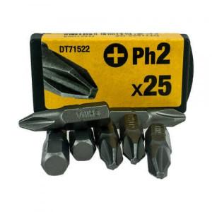 Бита DeWALT DT71522 Ph2, L=25мм, 25 шт.