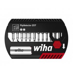 Wiha Биты FlipSelector ZOT, 13 пр (PZ1, PZ2х2, PZ3, T10, T15, T20х2, T25х2, T30, T40) Cr (W39063)
