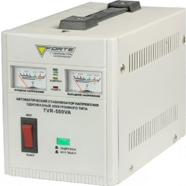 Картинка - Стабилизатор напряжения FORTE TVR-500VA