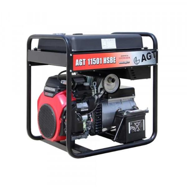 Картинка - Генератор бензиновый AGT 11501 HSBE R45