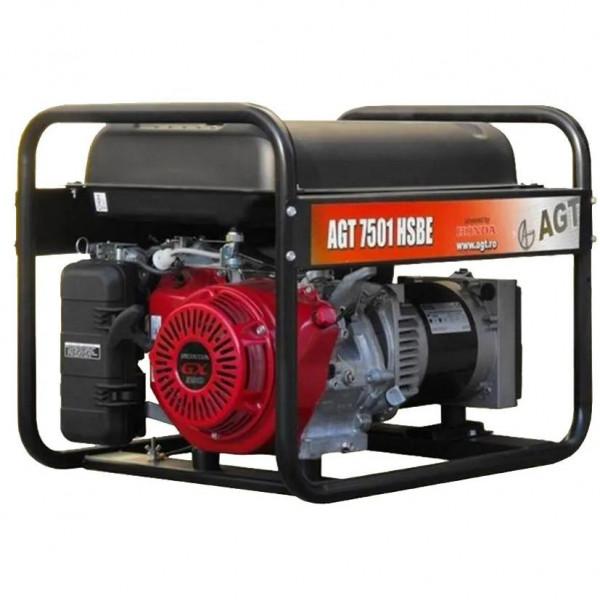Картинка - Генератор бензиновый AGT 7501 HSBE R26 PFAGT7501HE26/E