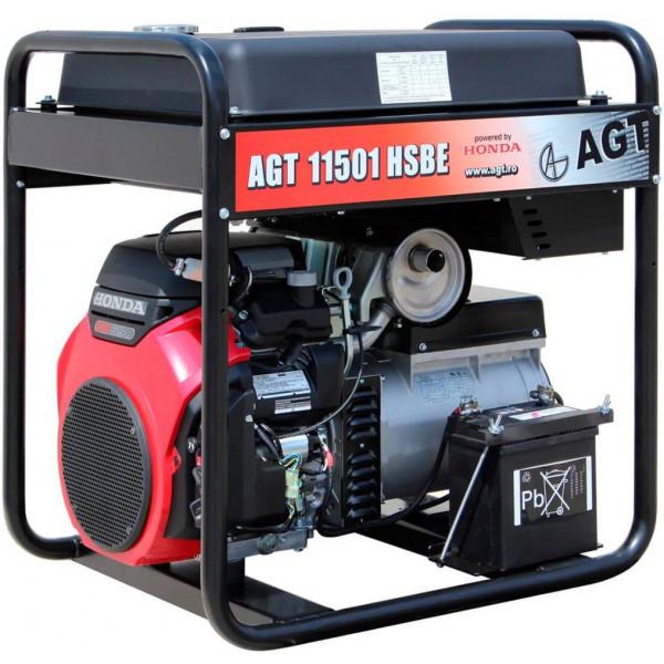 Картинка - Генератор бензиновый AGT 12501 HSBE R45 PFAGT12501H45/E