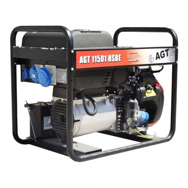 Картинка - Бензиновый генератор AGT 11501 HSBE R16