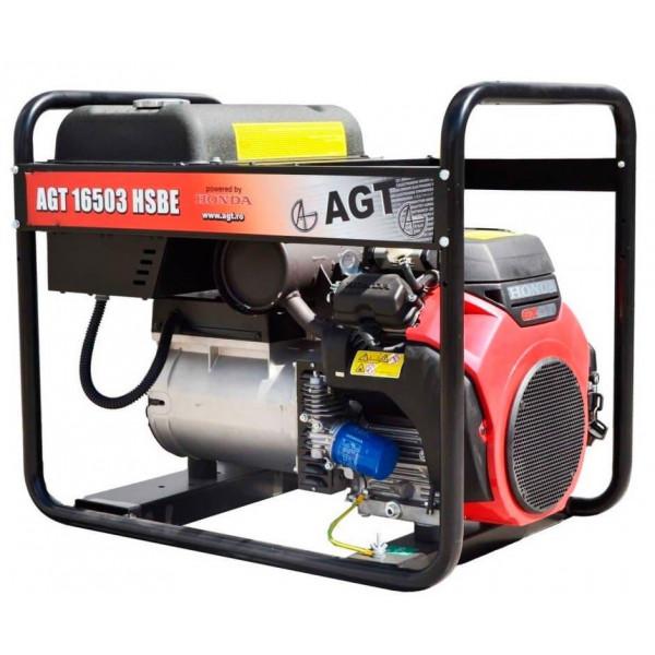 Фото - Генератор бензиновий AGT 16503 HSBE R45 PFAGT16503H45/E