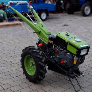 Мотоблок зеленый вода МД-81 БЕЗ ПЛУГА FORTE