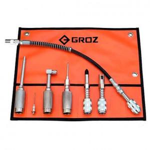 Набор адаптеров для смазки Groz GAK/7, 7 предметов