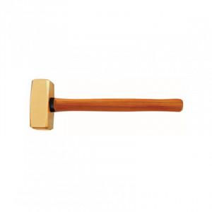 №2104B Латунная кувалда квадратная с деревянной рукояткой