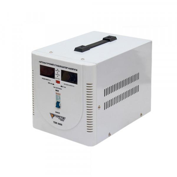 Картинка - Стабилизатор напряжения FORTE TDR-5000VA (релейного типа, 5 кВт, точность 8%)