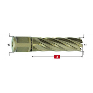 Корончатое сверло Karnasch GOLD-LINE D 14 мм L 55 мм WELDON 19