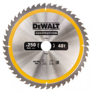 Диск пильний DeWALT, CONSTRUCTION 250х30 мм, 48z (ATB) + 10 град
