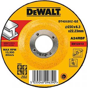 Круг шлифовальный DeWALT INDUSTRIAL, по металлу, 230 х 6,3 х 22,23 мм