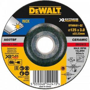 Круг шлифовальный DeWALT XR INOX по металлу, 125х3х22.23 мм