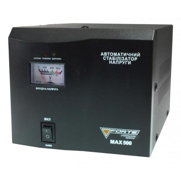 Стабилизатор релейный 1 Ф MAX-500VA NEW 500Вт FORTE