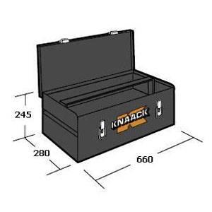 743 Ящик для инструмента металлический