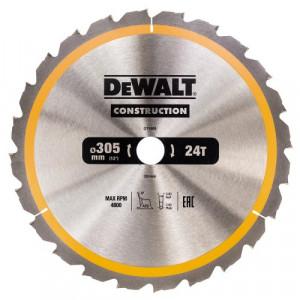 Диск пильний DeWALT, CONSTRUCTION 305х30 мм, 24z (ATB) - 5 град