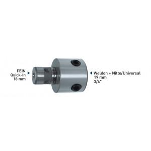 Адаптер Karnasch FEIN Quick-In 18 мм на Weldon + Nitto/Universal 19 мм