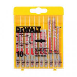 Набор полотен пильных DeWALT по металлу для электролобзиков, 10шт.