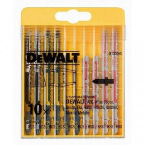 Набор полотен пильных DeWALT универсальный для электролобзиков, 10шт.
