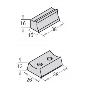 Клин для фрези насадні 692 (корпус сталь) 38x15x16 (692.999.02)