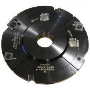 Головка пазорезная регулируемая с промежуточными кольцами Holzmann VN160-2(14-28)