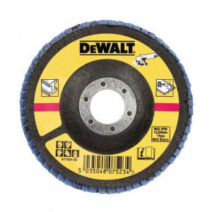 Круг шлифовальный лепестковый плоский DeWALT, металл, 125x22.23 мм, зерно 80G