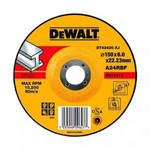 Круг шлифовальный DeWALT по металлу, 150х6х22.23 мм