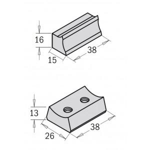 Клин для ножей 38x28x12,5 (693.999.02)